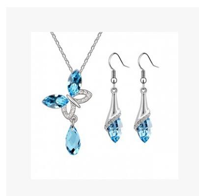Crystal Butterfly Jewelry Sets Crystal set / neckl...