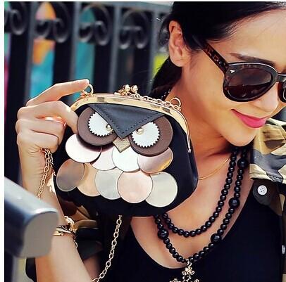 2015 new fashion women cartoon Owl bags shoulder b...