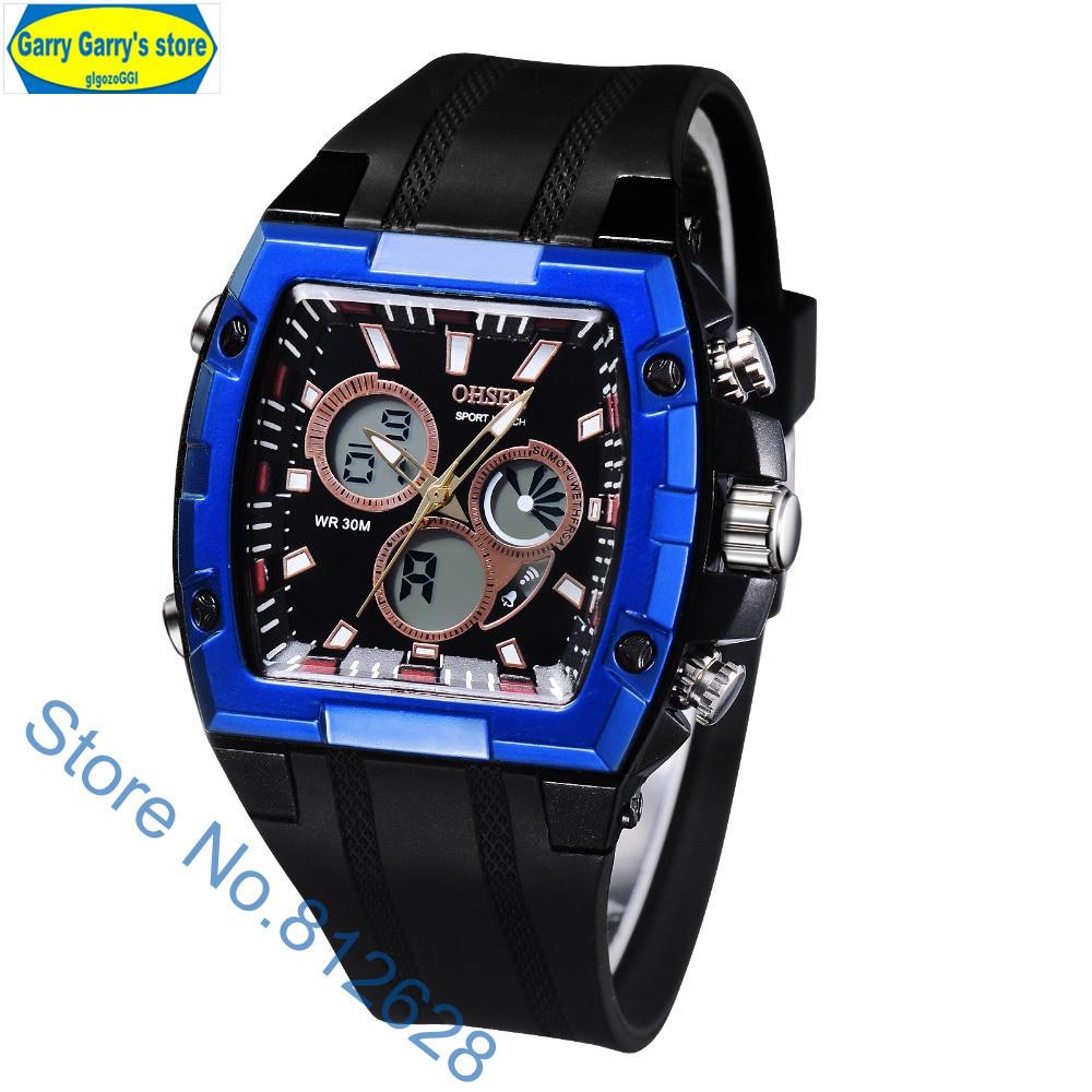 Fashion Men Analog Digital Dual Time Quartz Watch ...