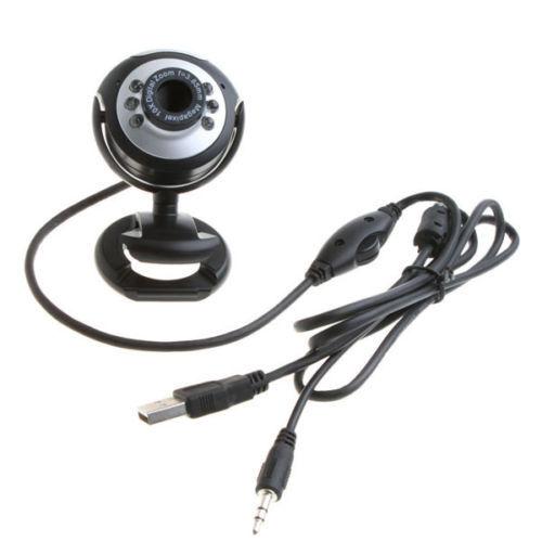 New USB 2.0 Webcam 6 LED HD Camera Web Cam + MIC F...