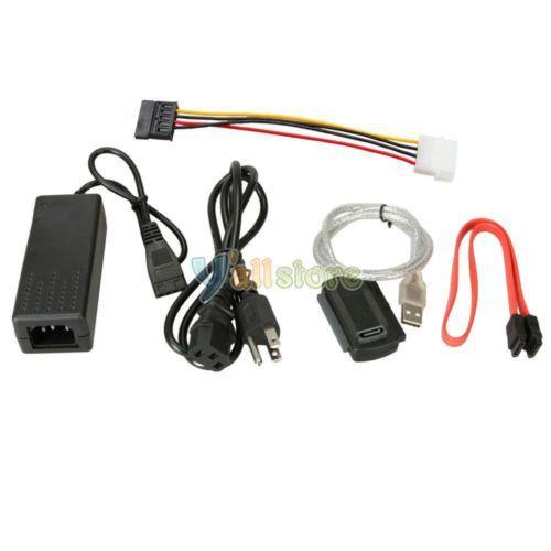 USB TO IDE SATA S-SATA Converter CABLE Adaptor w/ ...