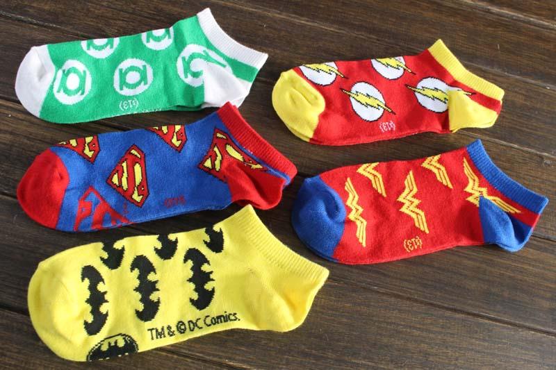 5prs/lot 2015 Cartoon Socks Men`s Sport Socks Cott...