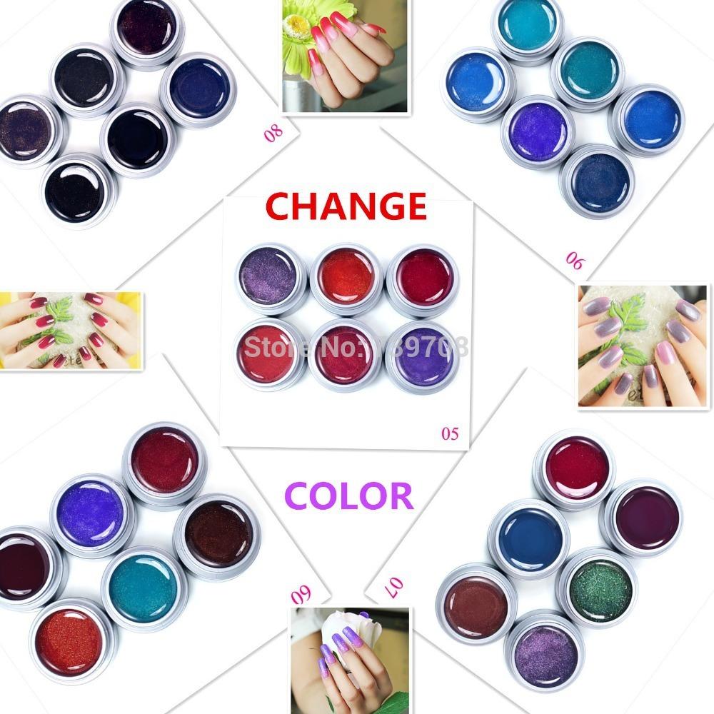 6PCS/Lot Change Color UV Gel Choose Any 6 From Ne...