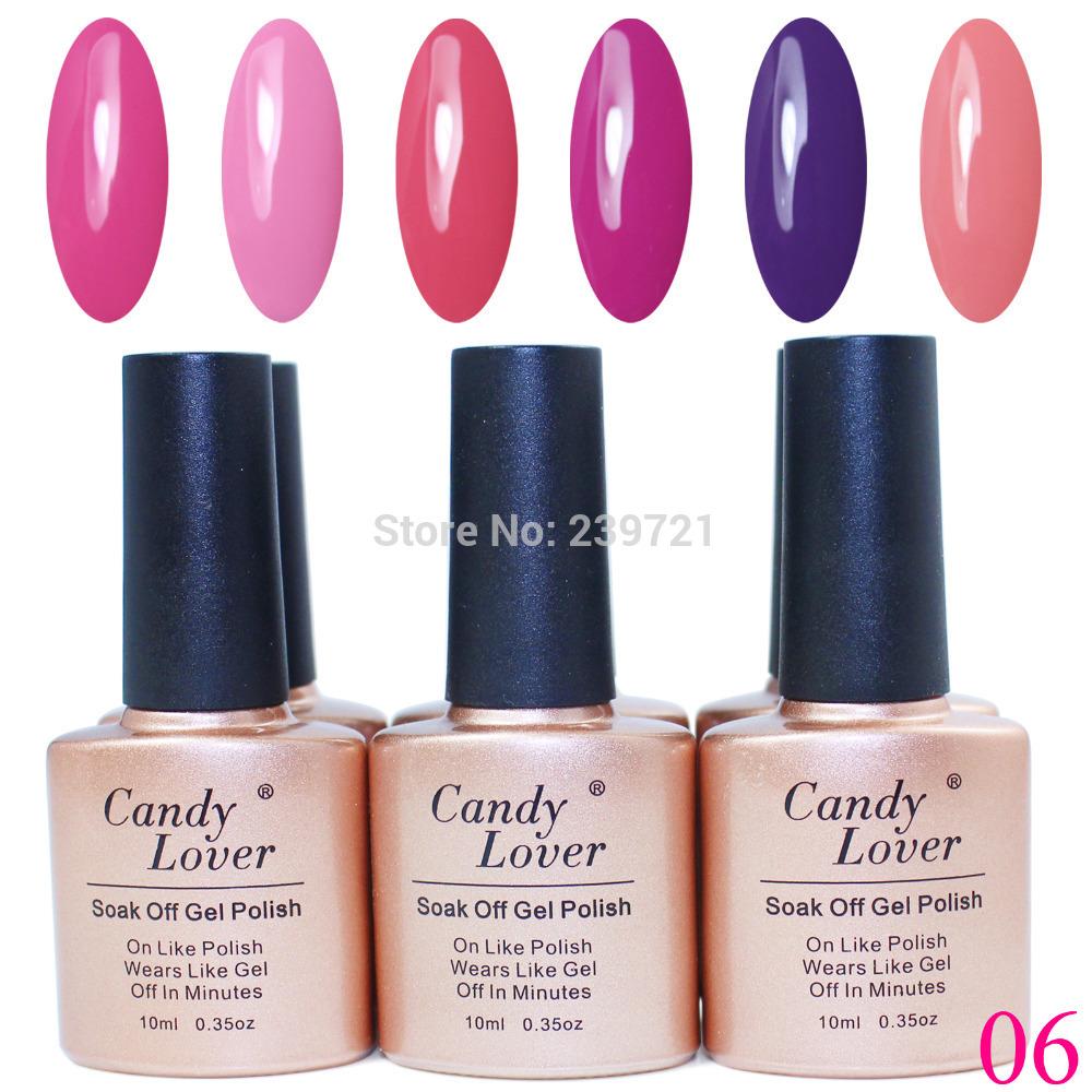 6pcs uv gel set cristina 240 fashion colors optina...