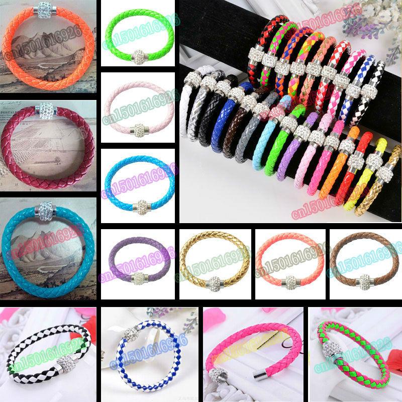 Free Shipping 19 Style Leather Wrap Wristband Cuff...