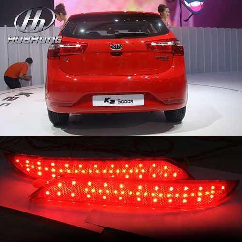 Car LED rear brake lights warning lights rear bump...
