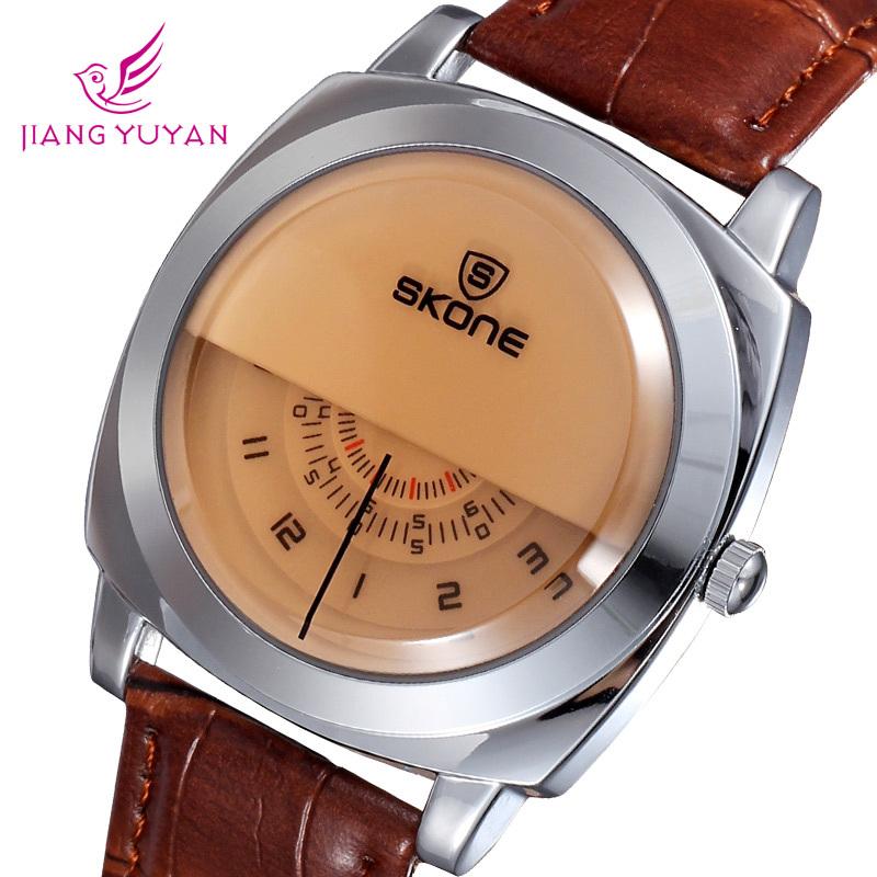 New men watches leather strap luxury brand watche...
