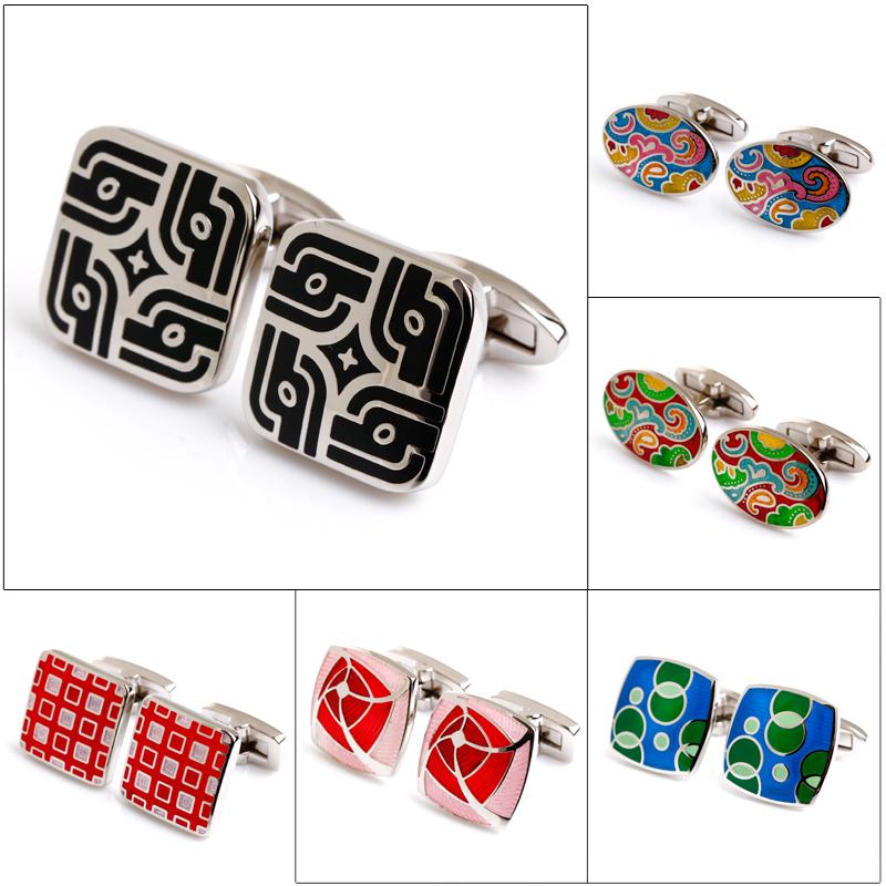 2015 new cufflinks top high quality enamel cufflin...