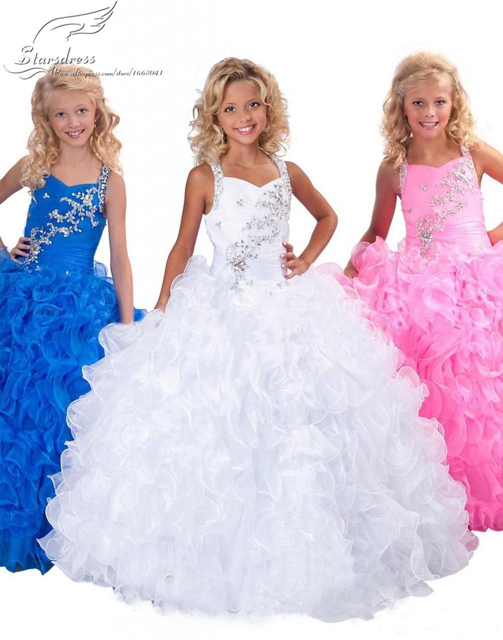 2015 Ball Gown Coloful Flower Girl Dresses Cute Ba...