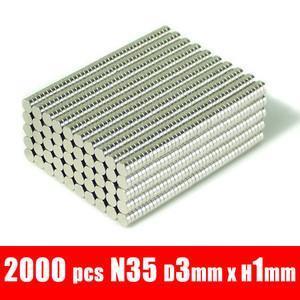 2000pcs d3*1mm 3mm x 1mm disc neodymium super str...