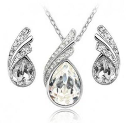 S022 _Jewelry Set wholesale  Korea White Gold Plat...