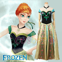 Frozen cosplay costume Anna's Dress