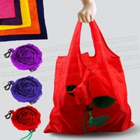 Rose flower bag 15pcs/lot shopping foldable bag  many colors mixed available rose bag handle Bag+free shipping