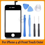 Black-Front-Glass-Lens-Touch-Screen-Digitizer-For-iPhone-4-4S-Replacement-Screen-Tools