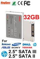 "brand kingspec  hot 2.5 Inch SATA III And SATA II  SSD 32GB  4-Channel Solid State Disk  MLC 2.5"" ssd flash hard disk JMF606"