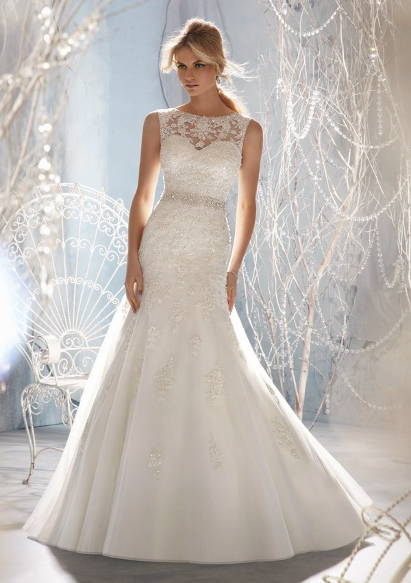 Designer Upscale Luxury Little Mermaid Vestidos Noiva Sexy Open Back Lace Wedding Dress 2014