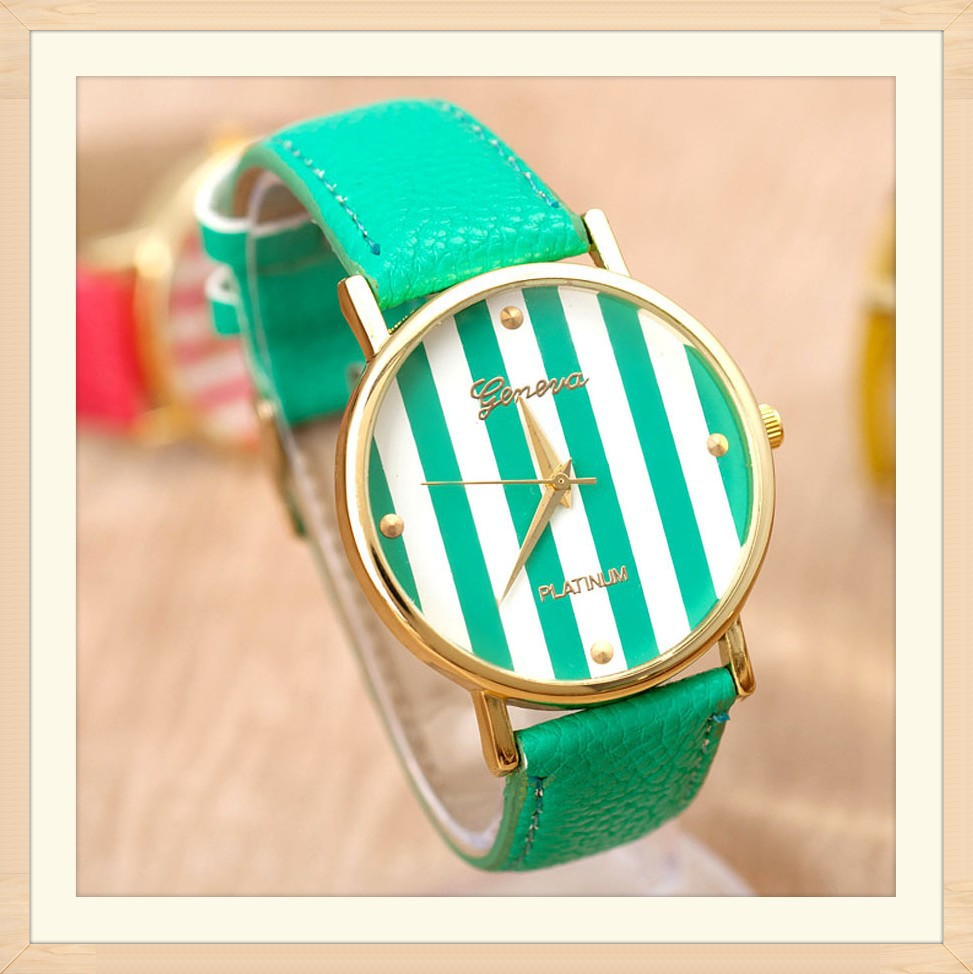 Free-Shipping-Good-Quality-Leather-Strap-Color-Strips-Dial-Super-Design-Casual-Watch-for-Boy-and