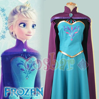 Frozen cosplay costume Elsa's Coronation Dress