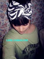Fashion black and white zebra print wide cotton elastic turban solid stretch head bands for women hair band headdress