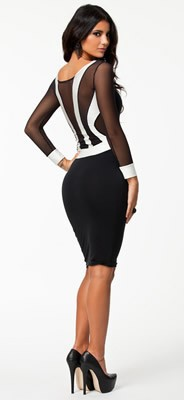 9029 pencil bodycon dress