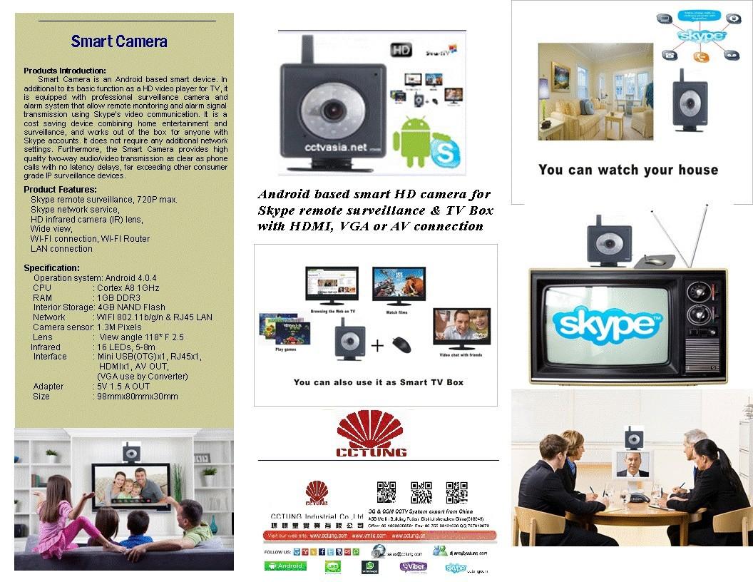 Smart camera brochure with tv