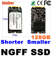 brand kingspec 42*22mm NGFF Mini Pcie Solid State Drive Disk 128GB  For tablet pc ,umpc , Support SATA PCI-E x2 PCI-E x4