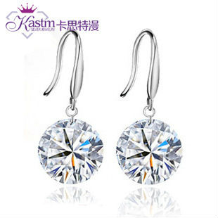 Kastm-100-Pure-925-sterling-silver-similated-diamond-crystal-drop-earrings-fine-jewelry-kse01