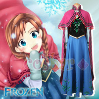 Frozen cosplay costume Anna's cute Dress