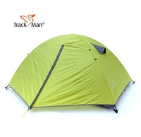 New  Authentic TrackMan Outdoor Camping Double Layer 2 Person Three Season Rein-proof Aluminum Pole Tent TM1204 big B3 mesh