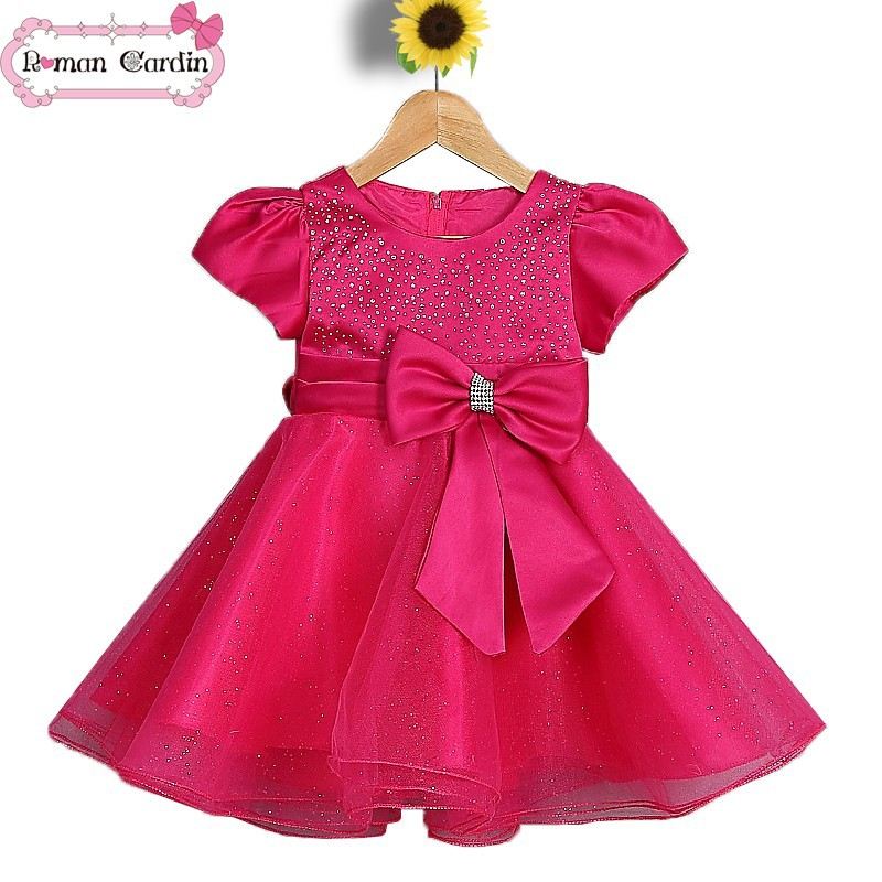 princess dresses for kids baby girl christmas dresses red dress01