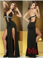 European_and_American_sexy_halter_dress_slit_dress_harnes