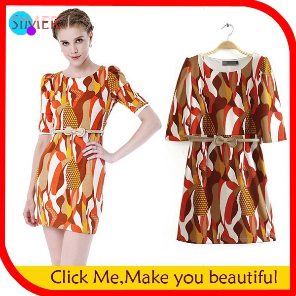 Hot-Sale-New-Fashion-Women-s-Printed-Abstract-Stripe-Mini-Casual-Dress-Long-Sleeve-Pleated-Dresses