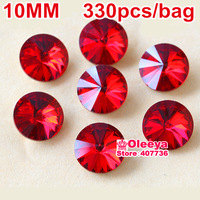 Siam or red Color Rivoli Fancy Stone beads Point Back Glass Crystal Stone For Jewelry Making 8mm,10mm,10.7mm,12mm,14mm,16mm,18mm