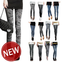fashion 2013 jeggings women jeans leggings for women hips legging fitness skull warm legging skirt pantyhose skinny tights silk