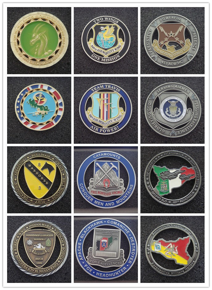 cut-out  challenge coin, military coin, custom coin