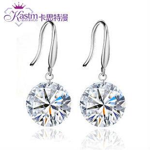 Kastm-100-Pure-925-sterling-silver-similated-diamond-crystal-drop-earrings-fine-jewelry-kse01
