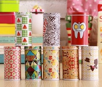 Free shipping new mini tea caddy carry zakka storage tin box iron box 3.5 cmX 7.5 cm high 8pcs/lot