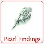 XD 925 sterling silver pearl findings