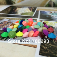 6mm 24colour mixd solid color acrylic Diamond Confetti Table Scatter Wedding Favour Party Decoration Cloth accessories wholesale