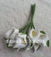 Free shipping 3CMX144 / bag colours  Mulberry Paper Flower Bouquet/Scrapbooking Flower simulation flowersPE Calla Lily flower2