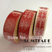 15mm*10m 3 rolls/lot Big red decorative festive atmosphere Handmade gifts and paper tape sticker album