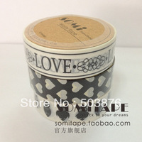 15mm*10m 3 rolls/lot New black and white suits and paper tape /  decorative tape sticker album
