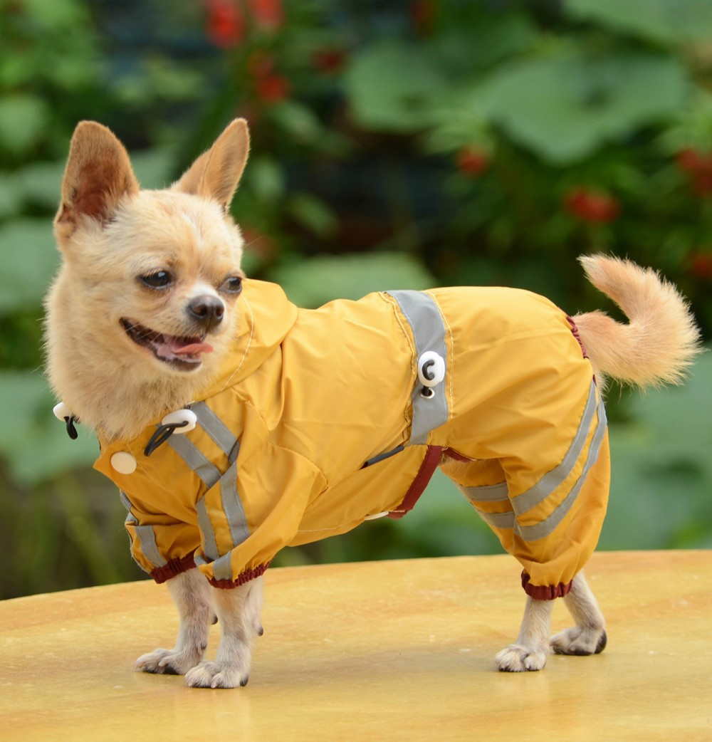 Pet-dog-puppy-raincoat-rainjackets-waterproof-XS-to-XXL-yellow-red-green