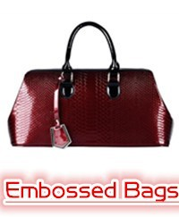 embossed bags