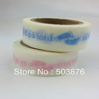 2 rolls/lot 15mm*10m Creative design notebook message gift wrap and paper tape 15mm wide color twill Series