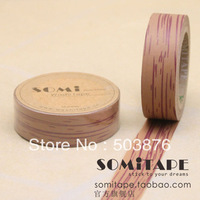 15mm*10m  1 rolls/lot Tree texture washi paper tape sticker album