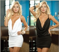Posh nightclub clubbing dress halter dress U DS lead dancer clothing sleeveless dress sexy seduction suit