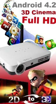 coolux mini led projector D800