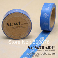 15mm*10m 2 rolls/lot Creativity and paper tape , Merry Christmas tape, colored tape sticker album