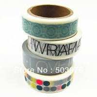 15mm*10m 4pcs/lot Korea stationery seamless print diy decoration tape handmade gift